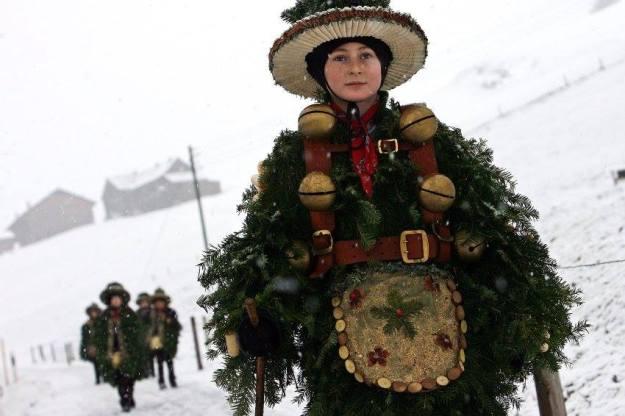 Silvesterchläuse: Archaic Winter Festival in Canton Appenzell Ausserrhoden Photo: swissvista