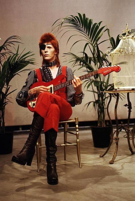 bowie in red